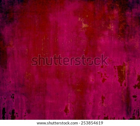 Aged grunge texture. With different color patterns: red (orange); purple (violet); pink; black - stock photo