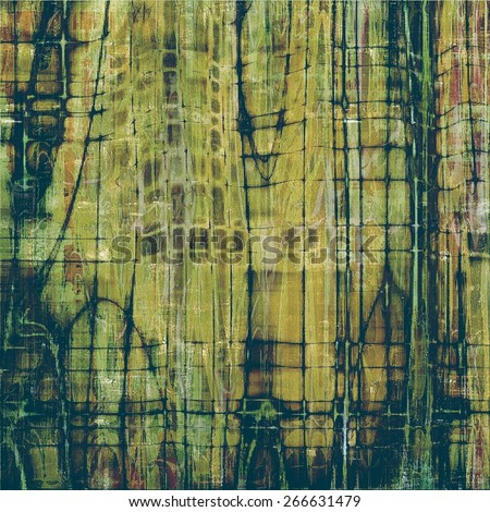 Aged grunge texture. With different color patterns: yellow (beige); brown; gray; green - stock photo