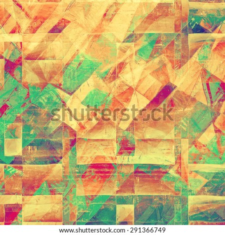 Aged grunge texture. With different color patterns: yellow (beige); brown; green; purple (violet) - stock photo