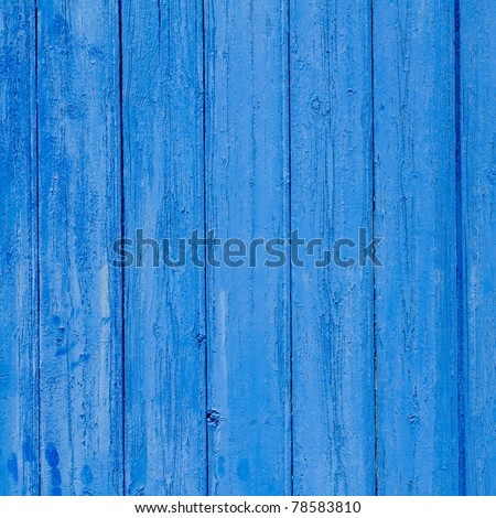 aged grunge weathered blue door wood texture Mediterranean background - stock photo