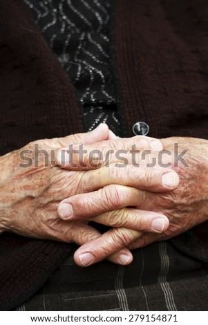 Aged hands - stock photo