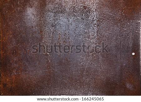 Aged metal texture, iron background.  - stock photo