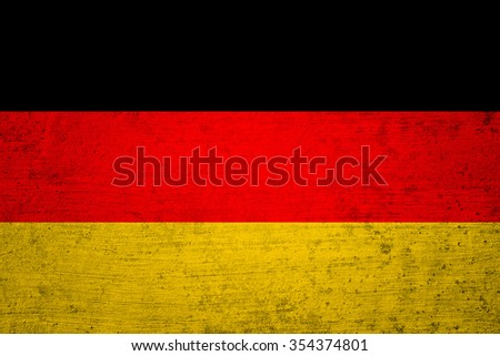 Aged old textured Germany flag. Grunge filter effect used. - stock photo
