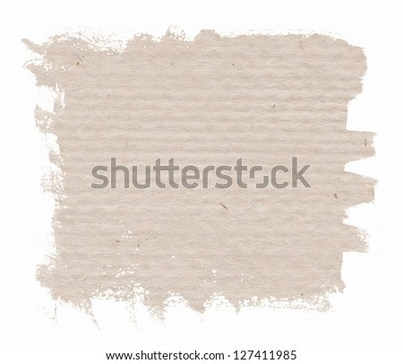 Aged paper background isolated on white - stock photo