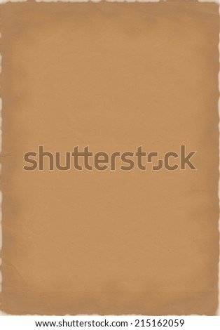 aged paper background with burned edges - stock photo