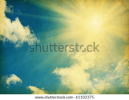 aged paper texture. sky background - stock photo
