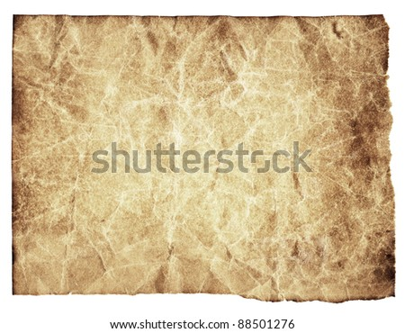 Aged paper texture with rough edges - stock photo