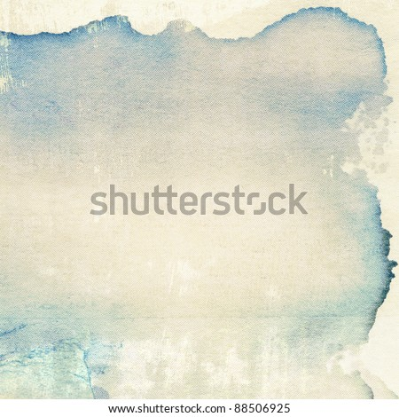 Aged paper texture with stain edges - stock photo