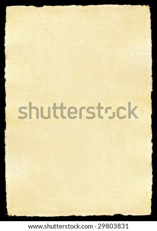 Aged paper with torn edges - stock photo