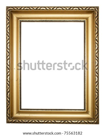 Aged, plated empty picture frame to put your own pictures in. - stock photo