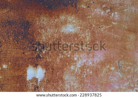 Aged rusted wall - stock photo