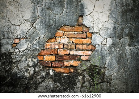 Aged stone wall, abstract background - stock photo