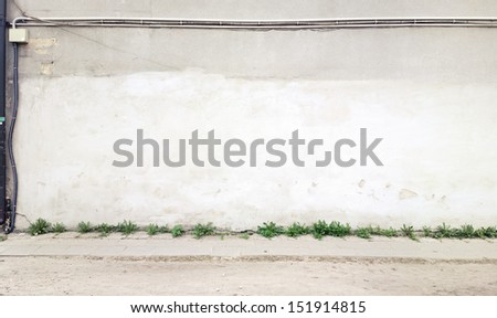 Aged street wall background, texture - stock photo