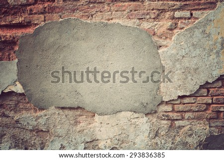 Aged street wall background texture, Vintage Style - stock photo