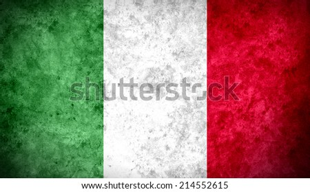Aged textured and colorful flag of Italy