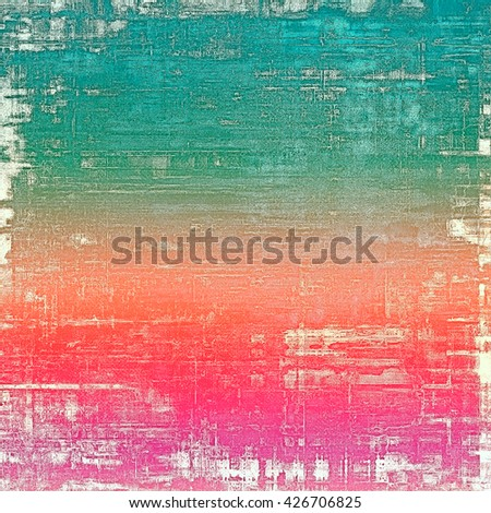 Aged textured background, macro closeup grungy backdrop with different color patterns: green; blue; red (orange); purple (violet); pink; white - stock photo