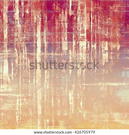 Aged textured background, macro closeup grungy backdrop with different color patterns: yellow (beige); brown; red (orange); purple (violet); pink - stock photo