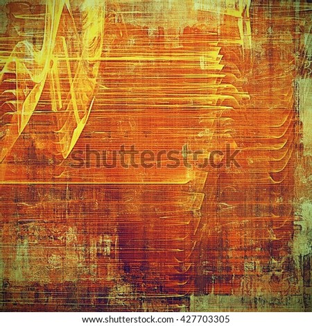 Aged textured background, macro closeup grungy backdrop with different color patterns: yellow (beige); brown; green; red (orange); purple (violet); pink - stock photo