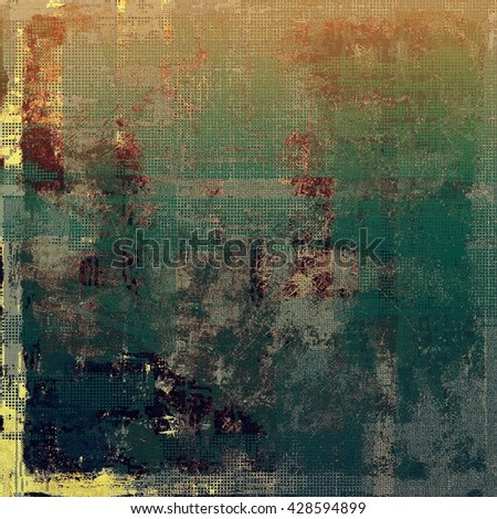 Aged textured background, macro closeup grungy backdrop with different color patterns: yellow (beige); brown; green; blue; red (orange); gray - stock photo