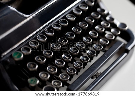 Aged typewriter keys or buttons - stock photo