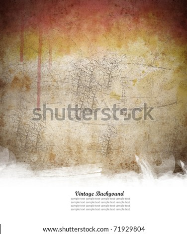 aged vintage paper with space for your text - stock photo