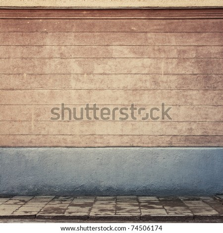 Aged wall background, texture - stock photo