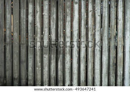 Aged Weathered Wooden Fence in a City Centre