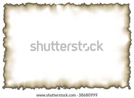 Aged white sheet of paper - stock photo