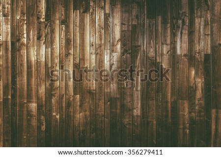 Aged Wood Planks Background. Dark Brown Wooden Texture. - stock photo