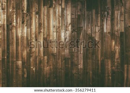 Aged Wood Planks Background. Dark Brown Wooden Texture. - stock photo