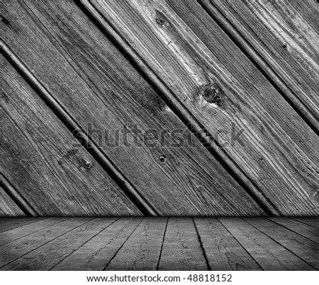Aged wooden wall - stock photo