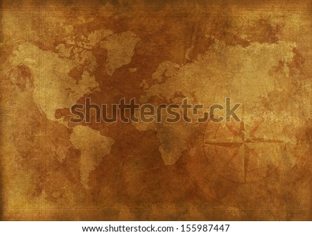 Aged world map vintage background backgrounds stock illustration aged world map vintage background backgrounds collection gumiabroncs Image collections