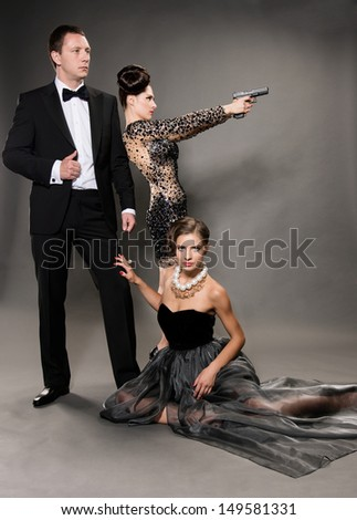 agent bond style - stock photo