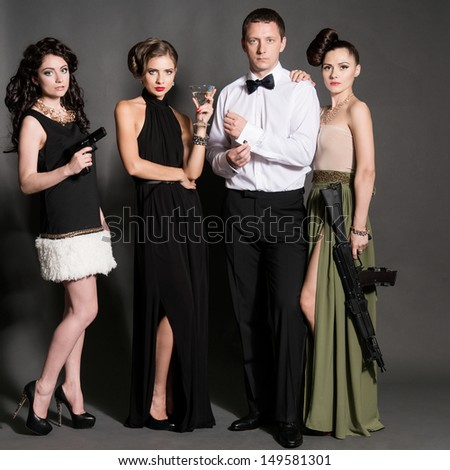 agent 007 style - stock photo
