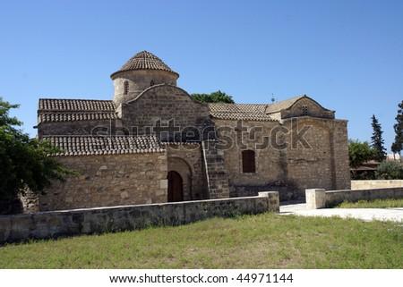 Aggeloktisti church, Byzantine church in Larnaca, Cyprus - stock photo