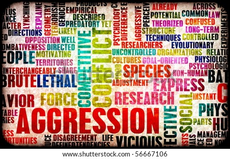 Aggression Concept as a Grunge Background Art - stock photo