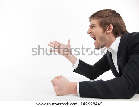Angry Man Aggressive Pointing Stock Photos, Images ...