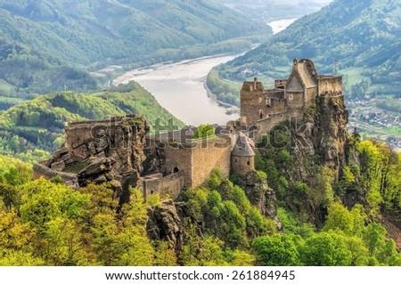 Aggstein castle  - stock photo