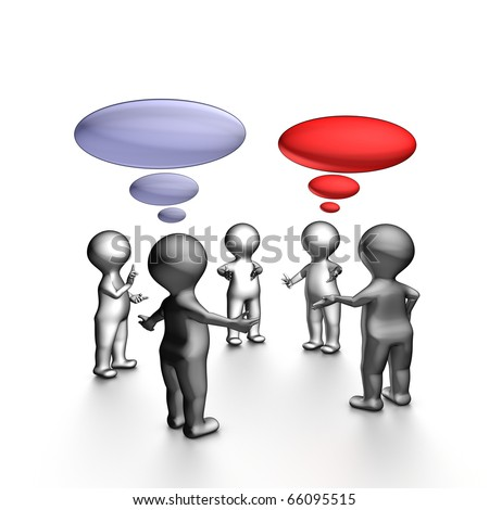 Agile stand-up meeting is a daily team meeting. The goal is to provide a status to the team members. - stock photo