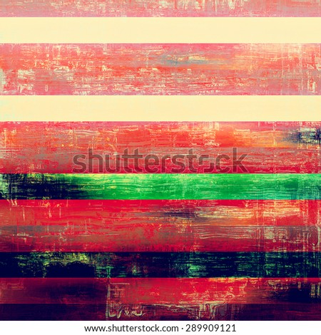 Aging grunge texture designed as abstract old background. With different color patterns: yellow (beige); green; pink; red (orange) - stock photo