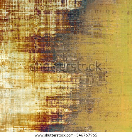 Aging grunge texture designed as abstract old background. With different color patterns: yellow (beige); brown; black; white - stock photo