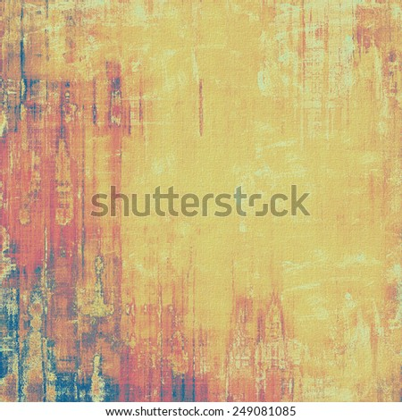 Aging grunge texture, old illustration. With different color patterns: yellow (beige); brown; purple (violet); blue - stock photo