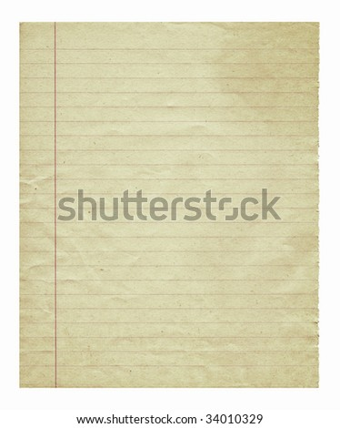 Aging striped paper - stock photo