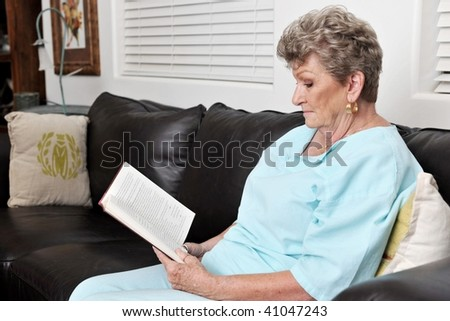 Aging Woman Reading