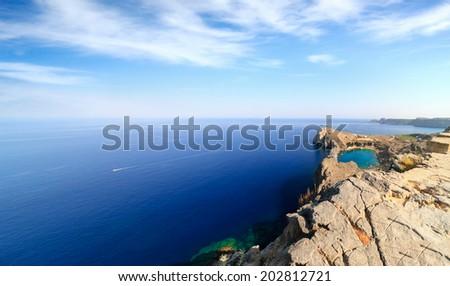 Agios Pavlos in Lindos (Rhodes Island, Greece) - stock photo