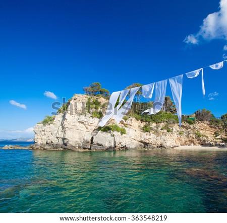 Agios Sostis in Zakynthos island - stock photo
