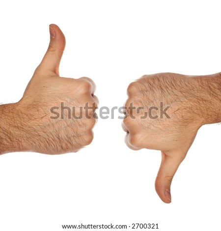 Agree and a disagree signs - stock photo