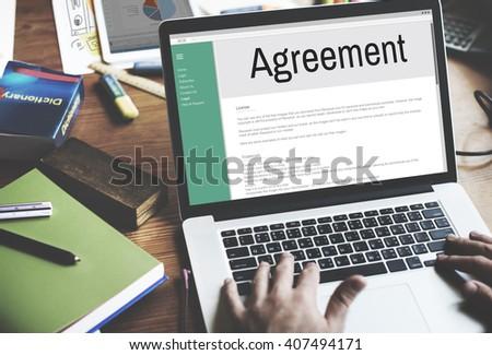Agreement Alliance Collaboration Deal Partnership Concept - stock photo
