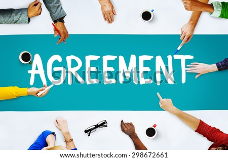 Agreement Cooperation Partnership Deal Contract Concept - stock photo