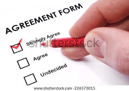 Agreement form  - stock photo